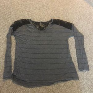 Gray laced long sleeve